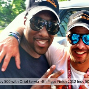 Indy 500 with Oriol Servia -4th Place Finish 2012 Indy 500