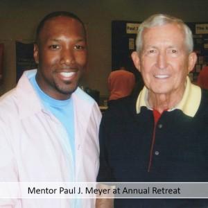 Mentor Paul J Meyer at Annual Retreat