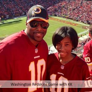 Washington Redskins Game with KK